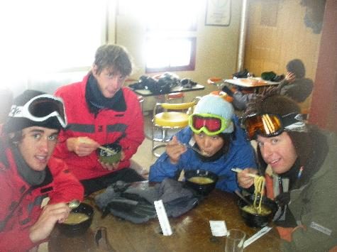 Lunch at the 1000m Hut
